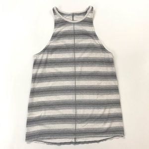 Lululemon athletica grey & white striped tank top